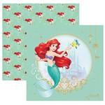 Folha para Scrapbook Dupla Face Disney Toke e Crie Ariel 1 Guirlanda - 19566 - Sdfd81