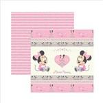 Folha para Scrapbook Dupla Face Disney Toke e Crie Baby Minnie 1 Fitas e Rótulos - 19317 - SDFD023