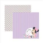 Folha para Scrapbook Dupla Face Disney Toke e Crie Baby Minnie 2 Paisagem - 19321 - Sdfd027