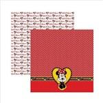 Folha para Scrapbook Dupla Face Disney Toke e Crie Minnie Mouse 2 Barrado - 19302 - SDFD008