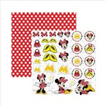 Folha para Scrapbook Dupla Face Disney Toke e Crie Minnie Mouse 2 Recortes - 19303 - SDFD009