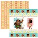 Folha para Scrapbook Dupla Face Disney Toke e Crie Moana 1 Fitas e Rótulos - 19544 - Sdfd59