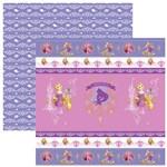 Folha para Scrapbook Dupla Face Disney Toke e Crie Rapunzel 1 Fitas e Rótulos - 20720 - Sdfd149