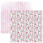 Folha para Scrapbook Dupla Face Toke e Crie Floral Botão de Rosas Delicado By Ivi Larrea – Sdf829 – 208