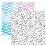 Folha para Scrapbook Dupla Face Toke e Crie Floral Mini e Folhas Delicado Aquarelado By Ivi Larrea – Sdf824 – 208