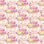 Folha para Scrapbook Estampado Litocart 30,5 X 30,5 Cm - Modelo Lsce-08 - Flamingo Sumshine