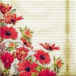 Folha para Scrapbook Estampado Litocart 30,5 X 30,5 Cm - Modelo Lsce-18 - Página e Flores
