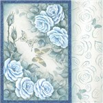 Folha para Scrapbook Estampado Litocart 30,5 X 30,5 Cm - Modelo Lsce-40 - Flores e Borboletas