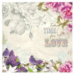 Folha para Scrapbook Litocart Pequena 16,5 X 16,5 Cm – Modelo Lscp-28 - Take Time For Lov