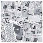 Folha para Scrapbook Simples Litocart 30,5 X 30,5 Cm - Modelo Lsc-184 Jornal