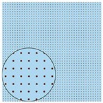 Folha para Scrapbook Simples Litocart 30,5 X 30,5 Cm - Modelo Lsc-80 Poa Azul com Marrom