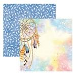 Folha para Scrapbooking Dupla Face Toke e Crie Filtro dos Sonhos Aquarelado - 20537 - Sdf781