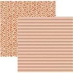 Folha Scrapbook Básico Multitons Chevron e Triângulos Laranja Ref.20290-KFSB510 Toke e Crie
