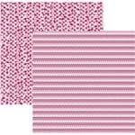 Folha Scrapbook Básico Multitons Chevron e Triângulos Rosa Ref.20270-KFSB490 Toke e Crie