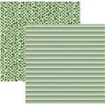 Folha Scrapbook Básico Multitons Chevron e Triângulos Verde Ref.20278-KFSB498 Toke e Crie