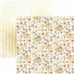 Folha Scrapbook Dupla Face Bouquets e ZigZag Aquarelado Ref.20823-SDF830 Toke e Crie