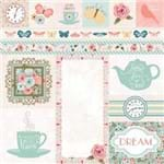 Folha Scrapbook Dupla Face Early Bird Arrival (Chegada) Ref.21076-WER093/7310063 American Crafts