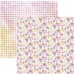 Folha Scrapbook Dupla Face Floral Delicado Losangos Aquarelado Ref.20821-SDF828 Toke e Crie