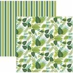 Folha Scrapbook Dupla Face Folhagem Tons de Verde Ref.20826-SDF833 Toke e Crie
