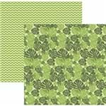 Folha Scrapbook Dupla Face Folhagem Tropical Ref.20825-SDF832 Toke e Crie