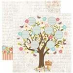 Folha Scrapbook Dupla Face Minha Família Árvore Ref.20657-SDF810 Toke e Crie