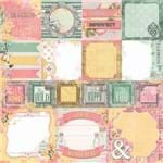 Folha Scrapbook Dupla Face Sunshine Bliss Happiness (Feliz) Ref.21117-WER134/7310191 American Crafts