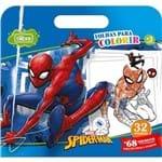 Folhas para Colorir Maleta com Adesivo Spider-Man 16 Folhas