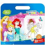 Folhas para Colorir Maleta com Adesivos Princesas - Tilibra