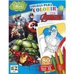 Folhas para Colorir Mini com Giz de Cera Avengers - 80 Folhas 155128