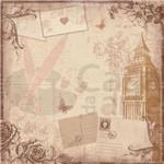 Folhas para Scrapbook Dupla Face Coleção Vintage Viagem Toke e Crie Relógio e Postais 12822 - Sdf292