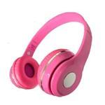 Fone de Ouvido Bluetooth com Microfone MP3 Sd Fm KP-415 Rosa