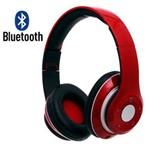 Fone de Ouvido Bluetooth Fm Stereo Radio Card Sd Kp-363 Knup - Vermelho
