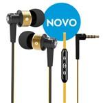 Fone de Ouvido com Fio Intra-auricular com Controle e Microfone - Cor Laranja