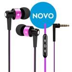 Fone de Ouvido com Fio Intra-auricular com Controle e Microfone - Cor Rosa