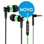 Fone de Ouvido com Fio Intra-auricular com Controle e Microfone - Cor Verde