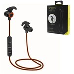 Fone de Ouvido Headphone Sports Amw-810 com Bluetooth - Estéreo Laranja