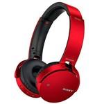 Fone de Ouvido Sem Fio Sony MDR-XB650BT/RZ com Bluetooth/NFC - Vermelho/Preto