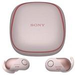 Fone de Ouvido Sem Fio Sony WF-SP700N/PM com Bluetooth/NFC - Rosa/Branco