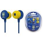 Fone de Ouvido Waldman Earphone Seleção Brasileira Super Fan Azul Sf-10-CBF/bl