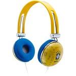 Fone de Ouvido Waldman Headphone Azul e Amarelo Soft Gloves SG10CBF/YL
