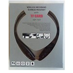 Fone de Ouvido Wireless Neckband Earbud Headset Tf Card