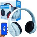 Fone Ouvido Headphone Bluetooth Sem Fio Dobrável Estéreo Fm Micro Sd Mp3 P2 Exbom HF-400BT Branco
