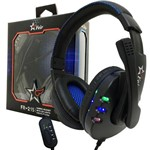 Fone Ouvido Headset Gamer Pc Playstation Ps4 Ps3 Jogo e Chat - Preto