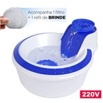 Fonte Bebedouro Cães Gatos 2L Petlon Filtro Azul 220V