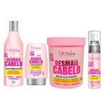 Forever Liss Kit Desmaia Cabelo Shampoo 500ml, Máscara 950g, Leave-in 150g e Sérum 60ml
