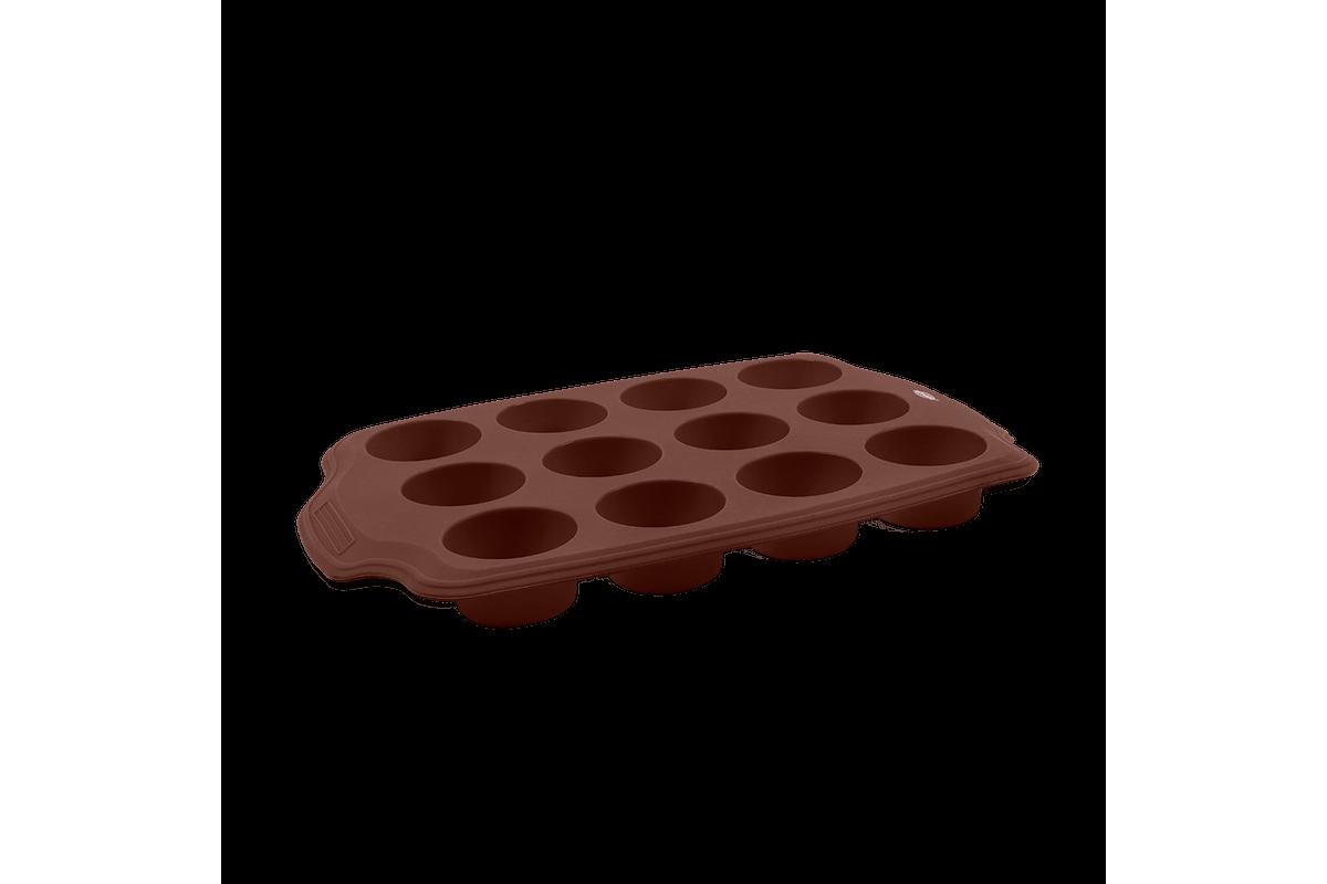 Forma 12 Divisões Mini Glacê 29,5 X 20 X 2,7 Cm Chocolate Brinox