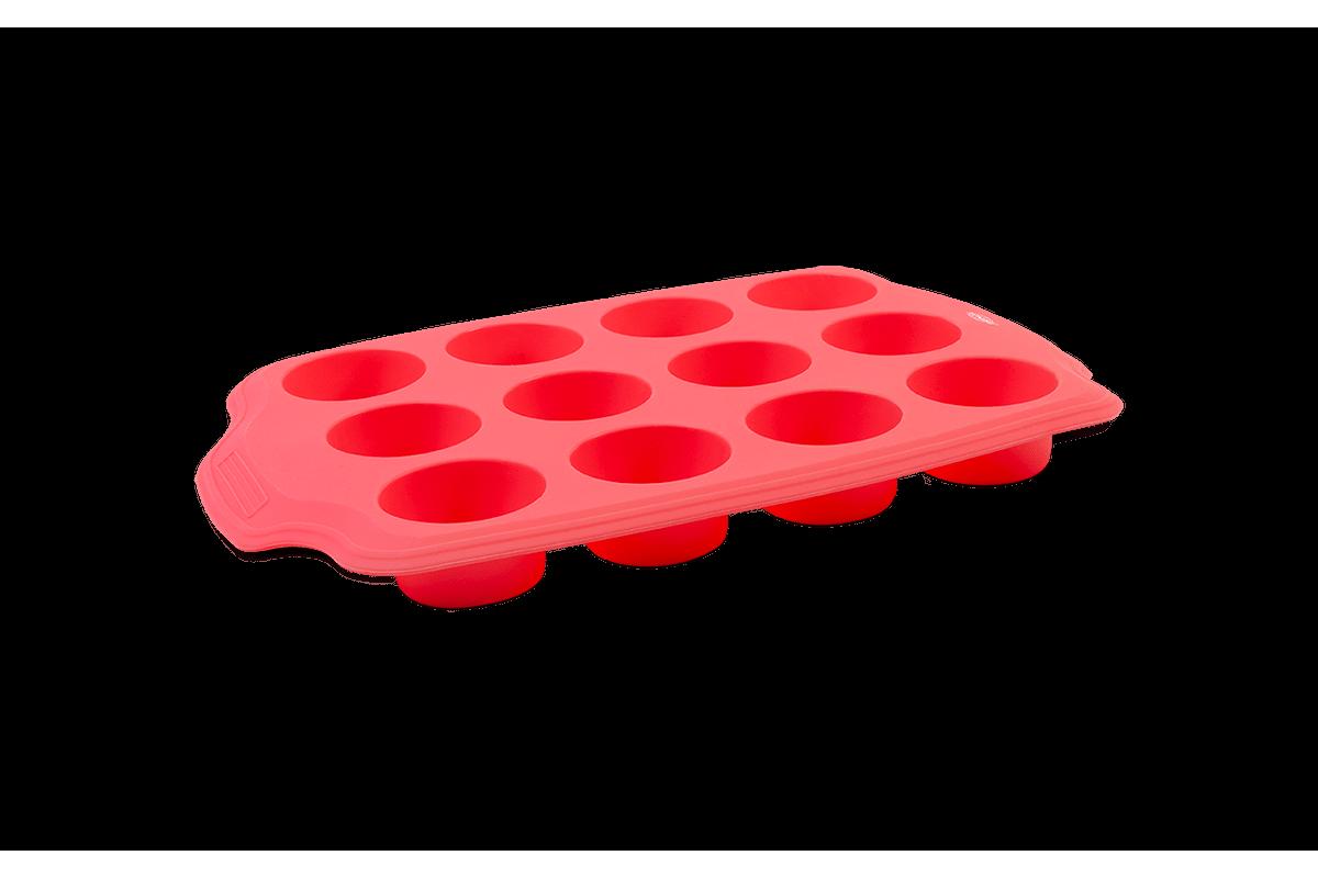 Forma 12 Divisões Mini Glace 29,5 X 20 X 2,7 Cm Rosa Brinox