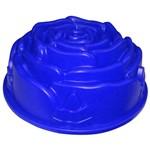 Forma de Silicone 23, Cm Botão de Rosa na Cor Azul