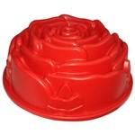 Forma de Silicone 23, Cm Botão de Rosa na Cor Vermelha