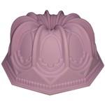 Forma de Silicone com Furo 23,3 Cm Catedral Rosa